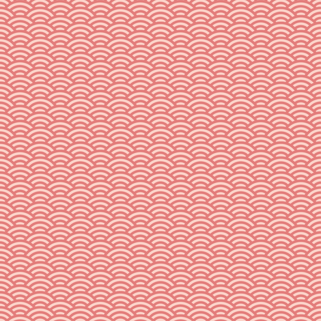 mini scallops in coral fabric by weavingmajor on Spoonflower - custom fabric