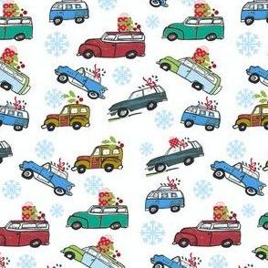 Vintage cars MINI Snowfall  Holiday