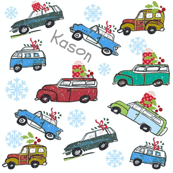 Vintage cars  Personalized Snowfall Holiday