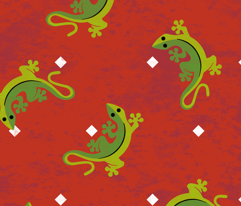 Gecko Scatter Large fabric by mariafaithgarcia on Spoonflower - custom fabric