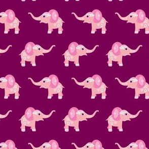 Adorable blue baby elephant illustration oriental arabic theme pattern for girls