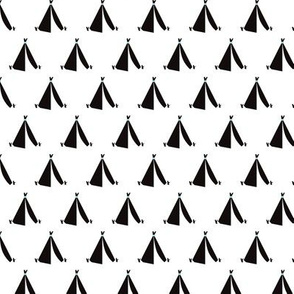 geometric black and white teepee camping tent print