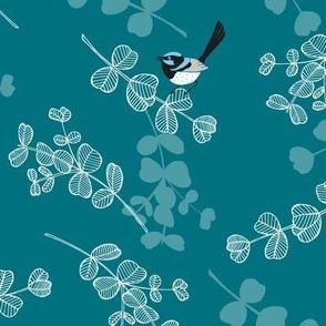 Blue Wrens - Teal