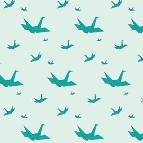 Paper Cranes - Mint
