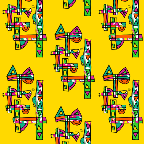 Cat fabric by anniedeb on Spoonflower - custom fabric