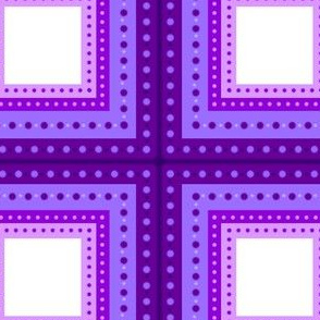 Purple Polka Dot Square