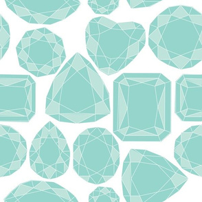 Geo Cut Diamonds, Teal