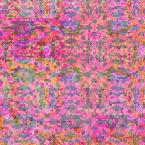 Pink Mirrored Flower Cuts-©Copyright