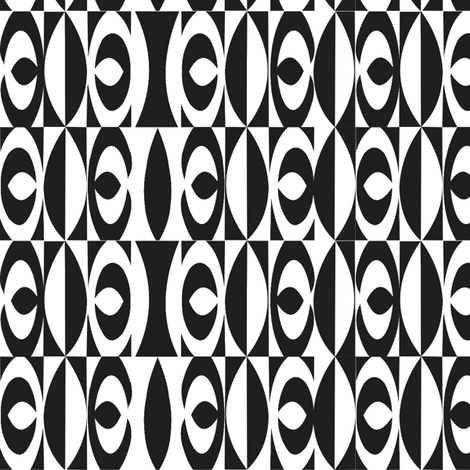Sepik_hook_black_white fabric by malolo on Spoonflower - custom fabric