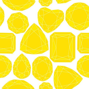 Geo Cut Diamonds, Yellow