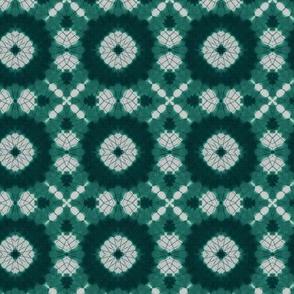 Teal Shibori Kaleidoscope