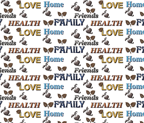 Love of family fabric by dogdaze_ on Spoonflower - custom fabric