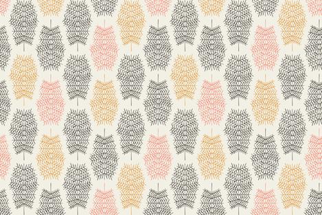Feather Skeletons Black fabric by alexandraboman on Spoonflower - custom fabric