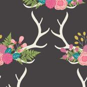 Bohemian Princess - Floral Antlers