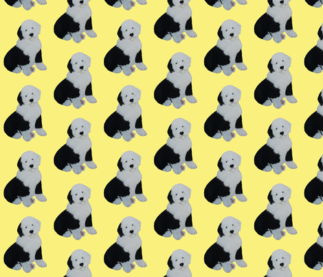 Bella in Yellow fabric by sheepiedoodles on Spoonflower - custom fabric