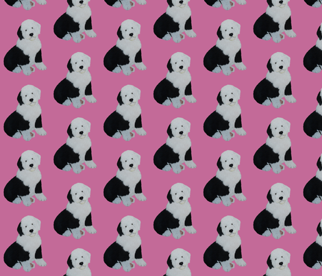 Bella In Pink fabric by sheepiedoodles on Spoonflower - custom fabric