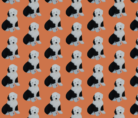 Sheepdog puppy fabric by sheepiedoodles on Spoonflower - custom fabric