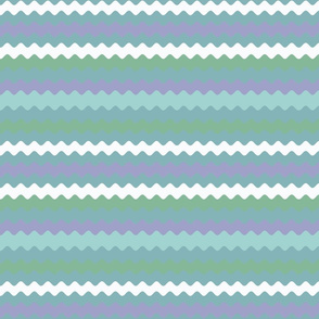 Larger Ribbon Waves in Blues, Purples & Greens
