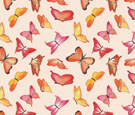 Butterfly Bouquet fabric by inner_child_designs on Spoonflower - custom fabric