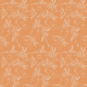 Butterfly Background Peach