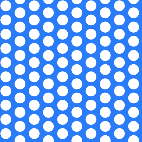 Sugar Cookie - Blue Polka Dots fabric by abbie0akley on Spoonflower - custom fabric