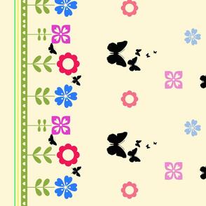 Flower Forest border print