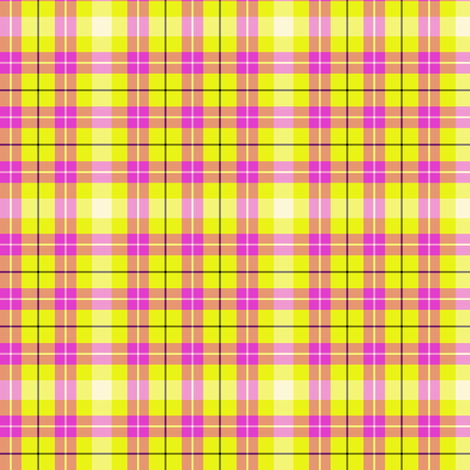 Cream, Pink and yellow fabric by abbie0akley on Spoonflower - custom fabric
