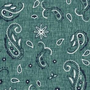 Western Paisley - turquoise