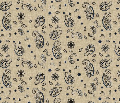 Western Paisley - denim fabric by thecalvarium on Spoonflower - custom fabric