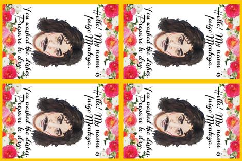 Inigo Montoya Tea Towel fabric by lizengel on Spoonflower - custom fabric
