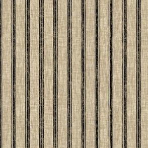 Weathered Ticking Stripe - black