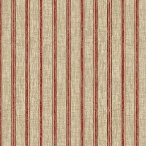 Weathered Ticking Stripe - red