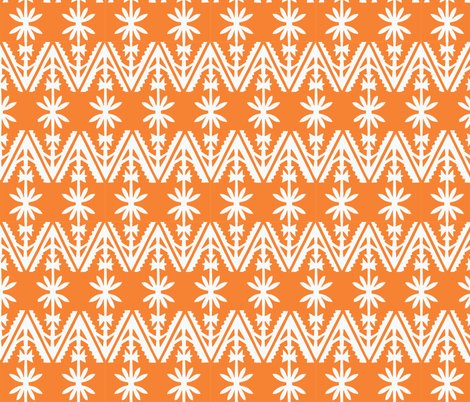 Tongan_tapa_orange fabric by malolo on Spoonflower - custom fabric