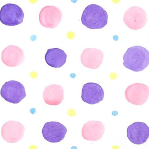 Four Watercolor Polka dots
