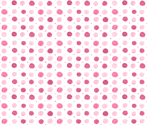 Raspberry Polka Dots fabric by nicoledobbins on Spoonflower - custom fabric