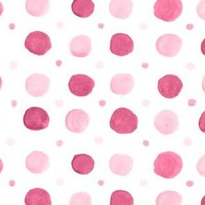 Raspberry Polka Dots