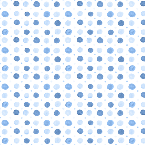 Pale Blue Watercolor Polka dots fabric by nicoledobbins on Spoonflower - custom fabric