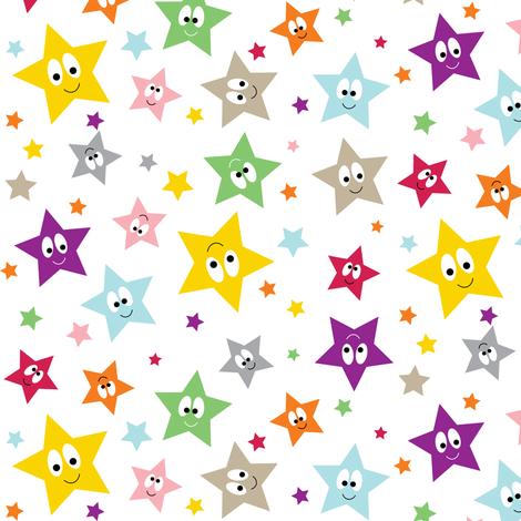 Happy Stars fabric by halfpinthome on Spoonflower - custom fabric