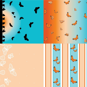 orangelacewingbutterflyset2