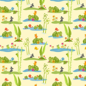 Little Cuties Jungle Scene: Yellow