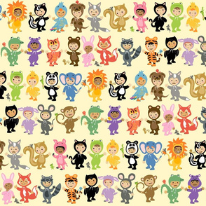 Little Cuties Animal Kids: Yellow