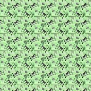 Tiny tie dyed agility Border Collies - green
