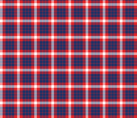 Coast Guard Tartan Plaid fabric by coastiecollections on Spoonflower - custom fabric