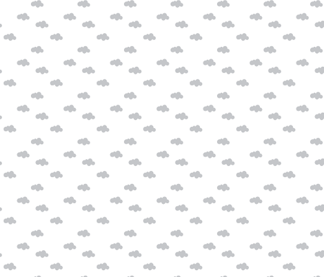 Modern Clouds, Gray fabric by nicoleporter on Spoonflower - custom fabric