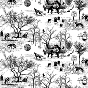 Zombie Dog Park Toile in Black