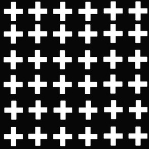 Black with white crosses