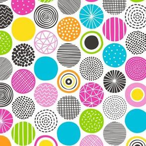 Dots Geometric Multicolor Pattern
