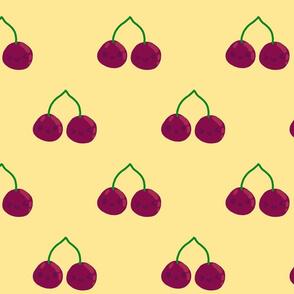Smiling cherries - yellow