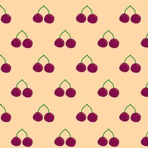 cherries smiling - orange