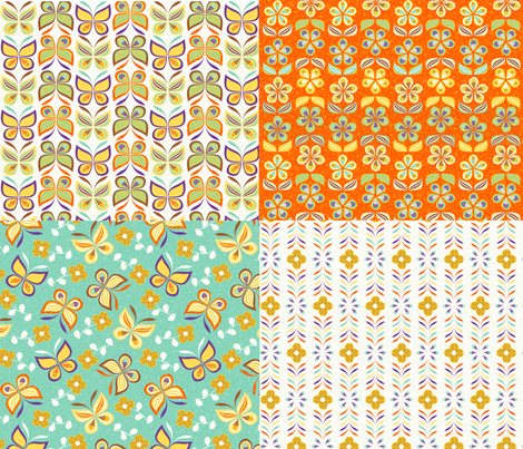 butterfly-yard fabric by gaiamarfurt on Spoonflower - custom fabric